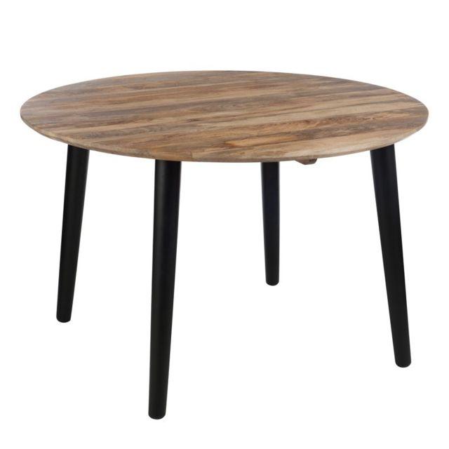 Tousmesmeubles Table de repas ronde - Amyr - L 120 x l 120 x H 79