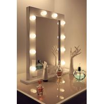 Diamond X Collection - Miroir De Maquillage Hollywood Brillant Blanc Lampes Led Blanches Froides K113Cw
