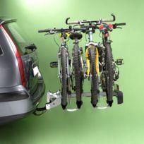 Porte vélos sur attelage 4 vélos rabattable