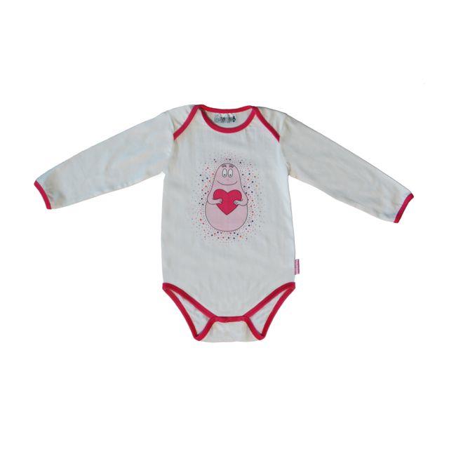 DC COMICS - Body ML Barbapapa blanc - 18mois - pas cher Achat   Vente  Sous-vêtements a758909beb3