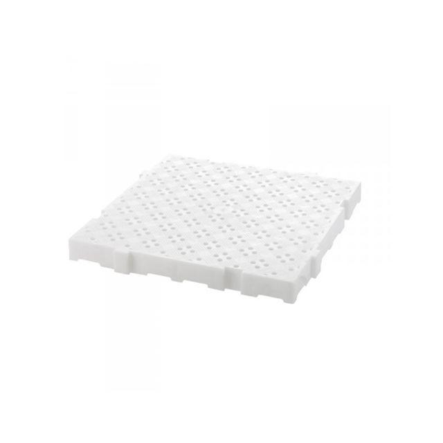 Gilac Caillebotis 50 x 50 cm ÉPAISSEUR 50 mm Blanc