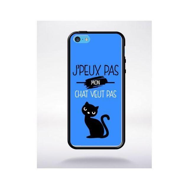 mp 312774 2061 118 apple iphone 5c silicone bord noir j peux pas mon chat veut pas 10