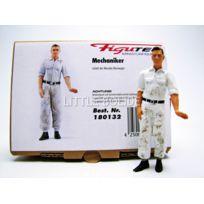 Figutec - Figurines Mecanicien Sale Mercedes - Pousse la voiture - 1/18 - 180132