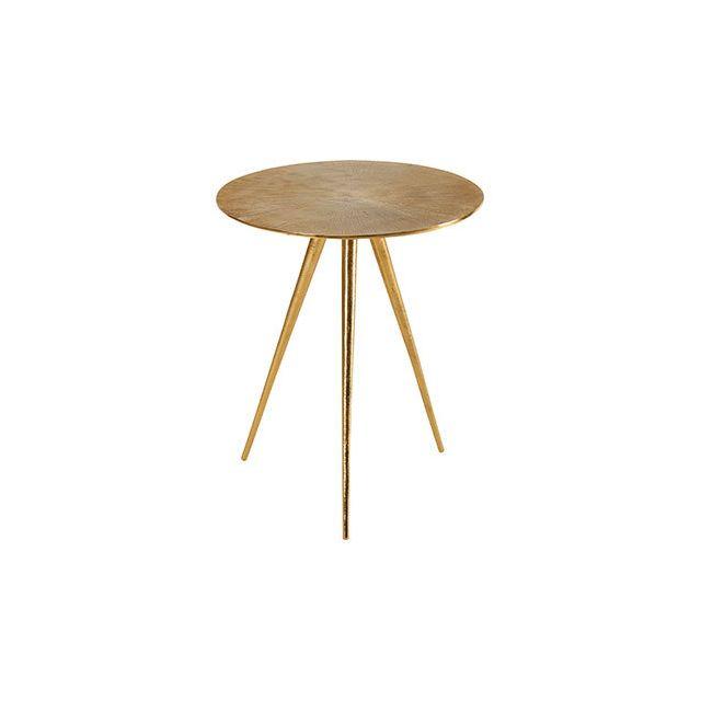 Table Sun Dorée D45xH54cm en aluminum