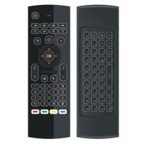 Wewoo - Pour Android Tv Box Player et Pc tablette mx3 2 en 1 6-axe Air Mouse 2.4G Clavier rétroéclairage sans fil + Somatosensory télécommande