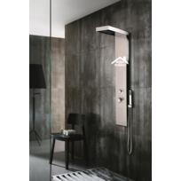 Maison De La Tendance - Colonne de douche hydromassante Velou en acier inoxydable 130x46x7 cm