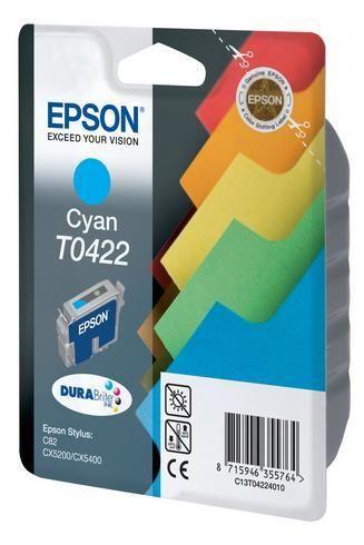 epson cartouche imprimante jet d 39 encre cyan t0422 c13t042240 pas cher achat vente. Black Bedroom Furniture Sets. Home Design Ideas