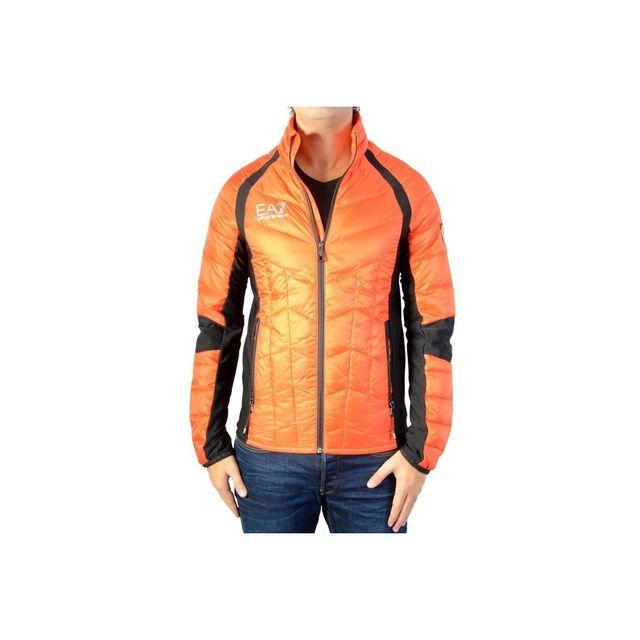 Armani Ea7 - Doudoune Ea7 Emporio Armani - 6YPB47-PN43Z-0654 Orange - XXL -  pas cher Achat   Vente Doudoune homme - RueDuCommerce 99ceb75bf2ab