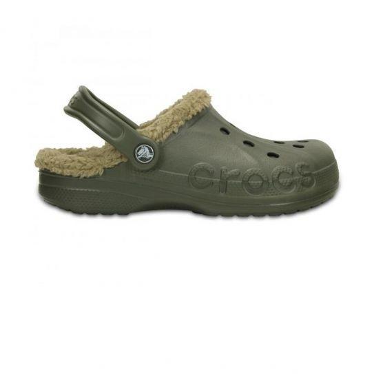 Crocs - Sabots Fourre Baya Lined Dusty Olive Khaki - pas cher Achat   Vente  Mules femme - RueDuCommerce 14f3fb9c3467