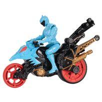 POWER RANGERS DINO SUPER CHARGE - Moto Cascade + Figurine 12 cm - Aqua - 43075