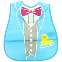 Promobo - Bavoir Tablier Enfant Garçon Costume Noeud Papillon Anti-Tache Avec Poche De Rangement