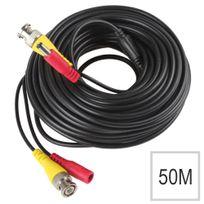 Cfp Securite - Ved-kx6/12V/3/50M - Câble 2 en 1 Bnc et alimentation 12V caméra analogique - 50 mètres