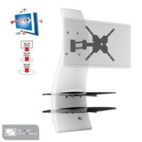 Meliconi - Ghost Design 2000 Rotation Meuble Tv support Blanc