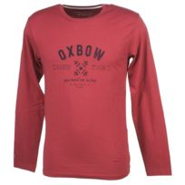 Oxbow - Tee shirt manches longues Takil framboise ml Rouge 34061