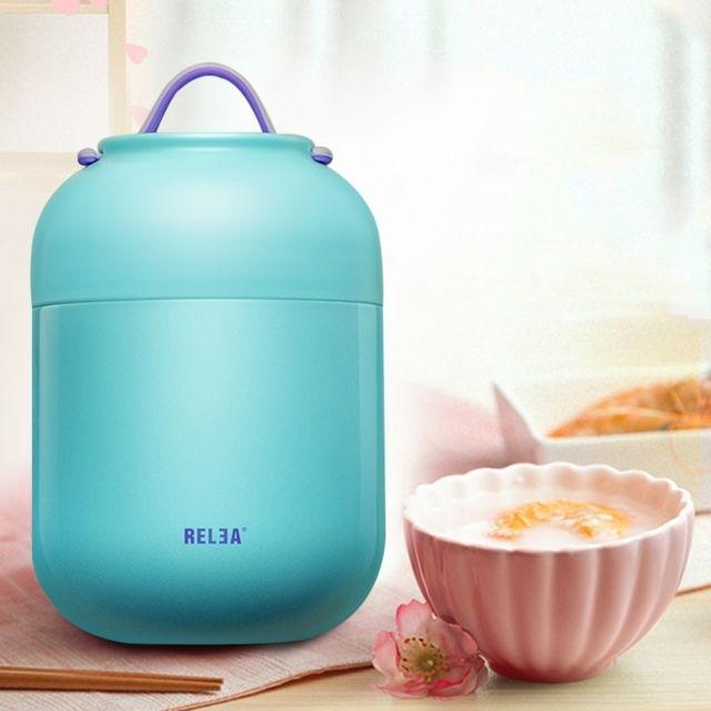 Ustensile de Cuisine bleu 700mL mignon pratique étudiant enfants pot de  cuisson multi-fonction en acier inoxydable baril