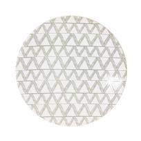 Table Passion - Assiette à dessert en grès motif chevron gris et blanc D.21cm - Lot de 6 Makun
