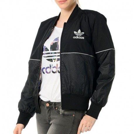 faf801beff4 Adidas originals - Veste Bomber Noir Femme Adidas - pas cher Achat ...