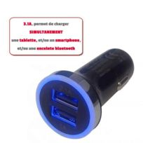 Lineaire - Chargeur allume cigare voiture / Double Usb 31Ah