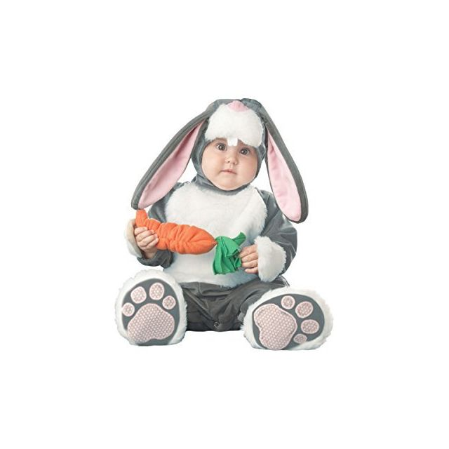 Fun World InCharacter Babys Lil Character Baby Bunny Costume Dark Grey/White/Pink 18-24 Months