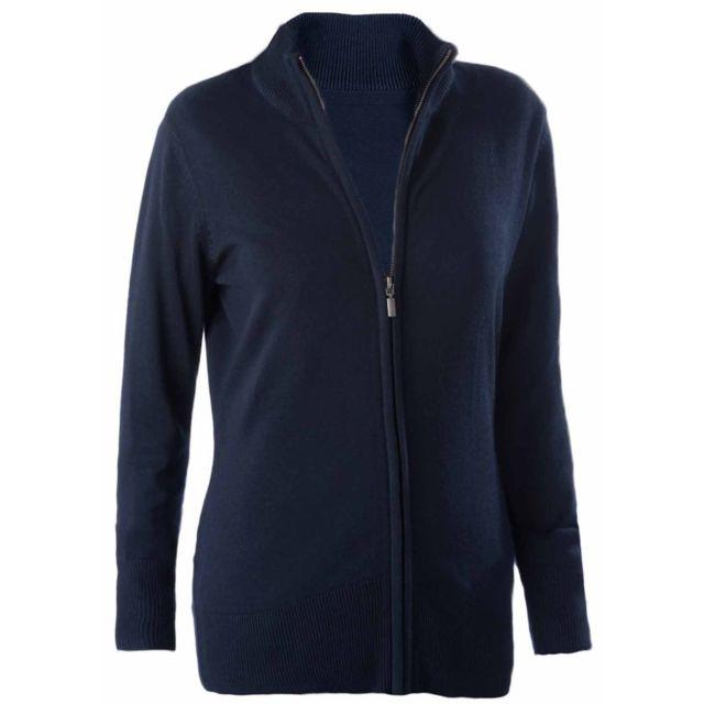 Kariban - Gilet boutonné cardigan K962 - femme - bleu marine - pas ... df2a7454f673