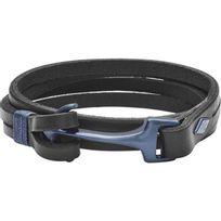 Fossil - Bracelet Bijoux Vintage Casual Jf02623998 - Bracelet Ancre Cuir Noir Homme