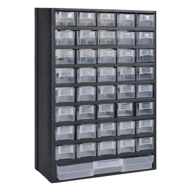 vidaXL 20x Bacs Empilables de Stockage Plastique Rangement Boîte à Outils