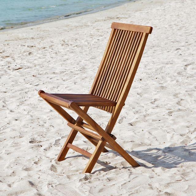Bois Dessus Bois Dessous Chaise de jardin en bois de teck huilé