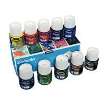 Pebeo - Boîte de 10 flacons de 45 ml setacolor pour tissus clairs