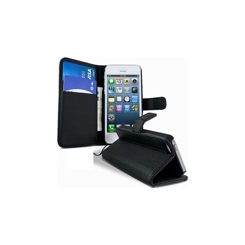 Lapinette - Etui Housse Portefeuille Pour Apple Iphone 5c + Film - Noir