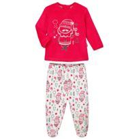 f844d1b61d729 Petit Beguin - Pyjama bébé 2 pièces velours avec pieds Ho Ho - Taille - 12