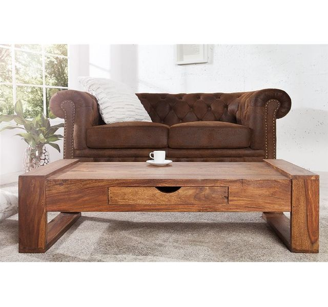 CHLOE DESIGN Table basse design ALOYS - Bois foncé
