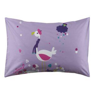 catimini melle rose taie d 39 oreiller 50 x 75 cm violet pas cher achat vente taies d. Black Bedroom Furniture Sets. Home Design Ideas