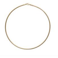 Collection Zanzybar - Collier plaqué or jonc semi rigide, maille omega . Modèle Les Basiques