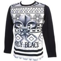 Rivaldi Black - Tee shirt manches longues Marchelu black ml tee Noir 79258