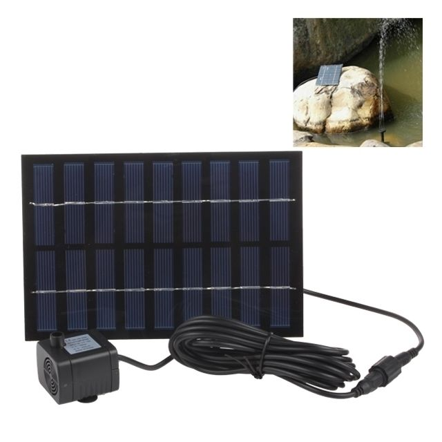 Wewoo Pompe à eau solaire rectangle de 9V 2W