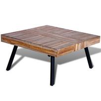 Rocambolesk - Superbe Table basse carrée en teck recyclé neuf