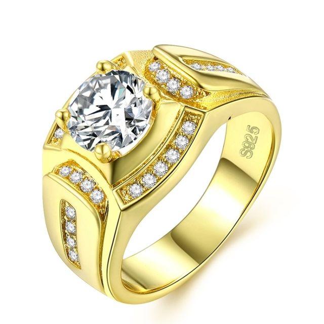 Bagues Or Zircon 8 De 18 Diamond D'affaires Plaqué CaratsAaa MmPérimètre62 Mm Blanc Homme Men 1 Mode RingTaille10Diamètre19 SUMzpqV