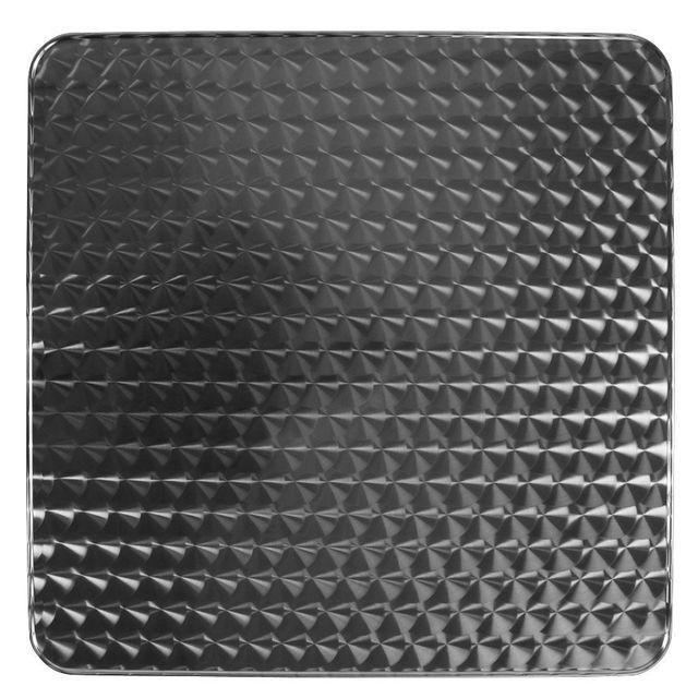 Alterego Plateau de table 'BARCA' carré 60x60 cm acier inoxidable