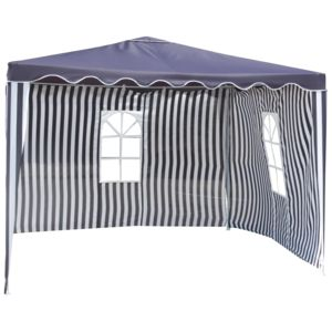 carrefour alzira tonnelle avec 2 rideaux bleu et blanc pas cher achat vente tentes de. Black Bedroom Furniture Sets. Home Design Ideas