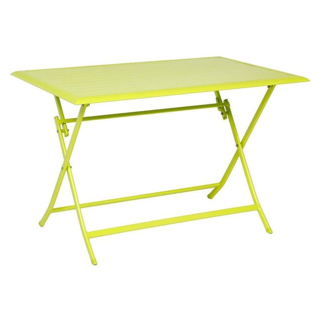 Hespéride Table aluminium Azua 4 places vert granny