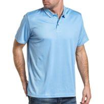 Brave Soul - Polo sport homme bleu ciel fluide mesh