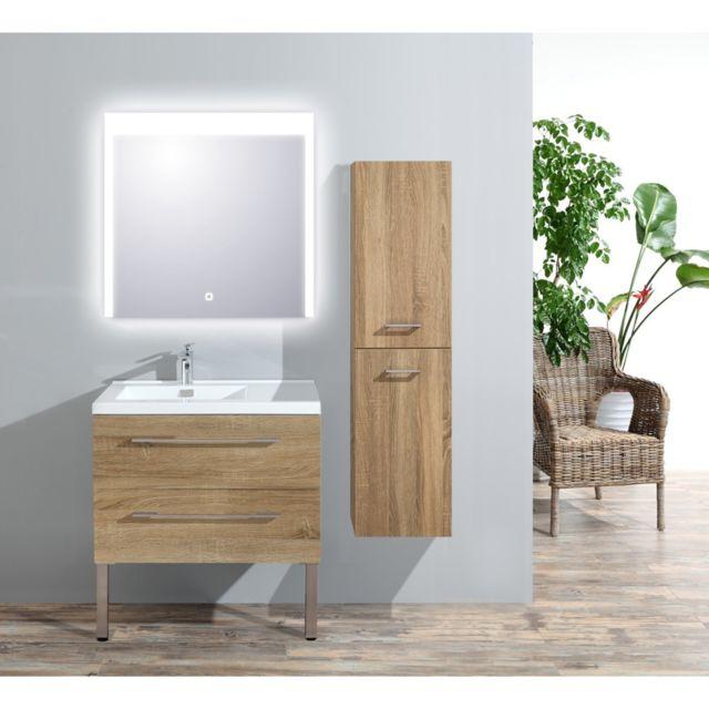 Meuble de salle de bain Atlantic bois clair L.77 x P.50cm