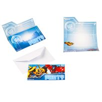 Amscan - Cartons D'invitation - Transformers Robots In Disguise x 8