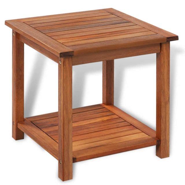 Stylé Consoles categorie Port-Louis Table d'appoint Bois d'acacia massif 45 x 45 x 45 cm