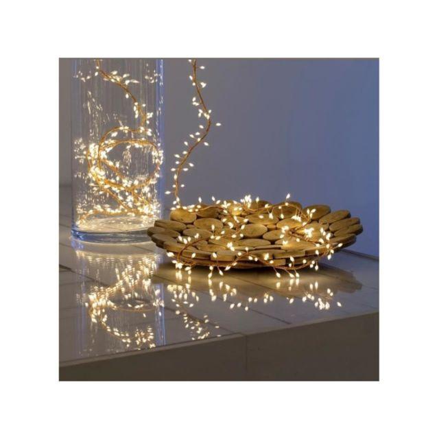 Akasa Lotti Guirlande lumineuse grappe - 600 micro-LED MiniCluster Ø5 cm - Blanc chaud - 5 m