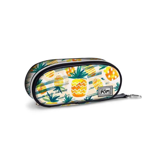 Cactus-Triple HS Pencil Case Trousses 24 cm Vert Oh My Pop Pop Green