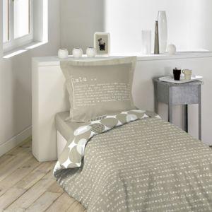 lulu castagnette cdaffaires parure 2 p 140 x 200 cm imprime 57 fils allover lulu word imprim. Black Bedroom Furniture Sets. Home Design Ideas
