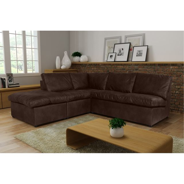 Rocambolesk Canapé d'angle Avanti Flexi 2A1P tobago 14 brun sofa divan