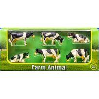 Kids Globe - Lot De 4 Vaches Debout Et 2 CouchÉES Holstein - Fgk570009