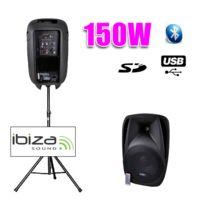 "Ibiza - Enceinte Dj active 8""/20CM 150W Usb/SD/BT + pied"